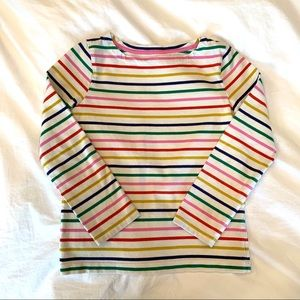 Boden Breton Tee Shirt in Rainbow Stripes